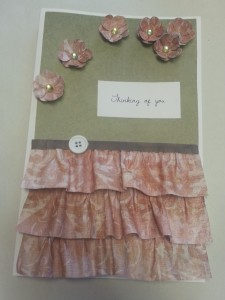 Hand Made Card Ruffles