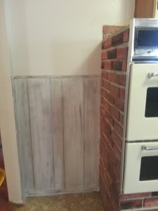 white wash outdated panel for a fresh look