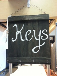 Key sign with hooks to keep your keys