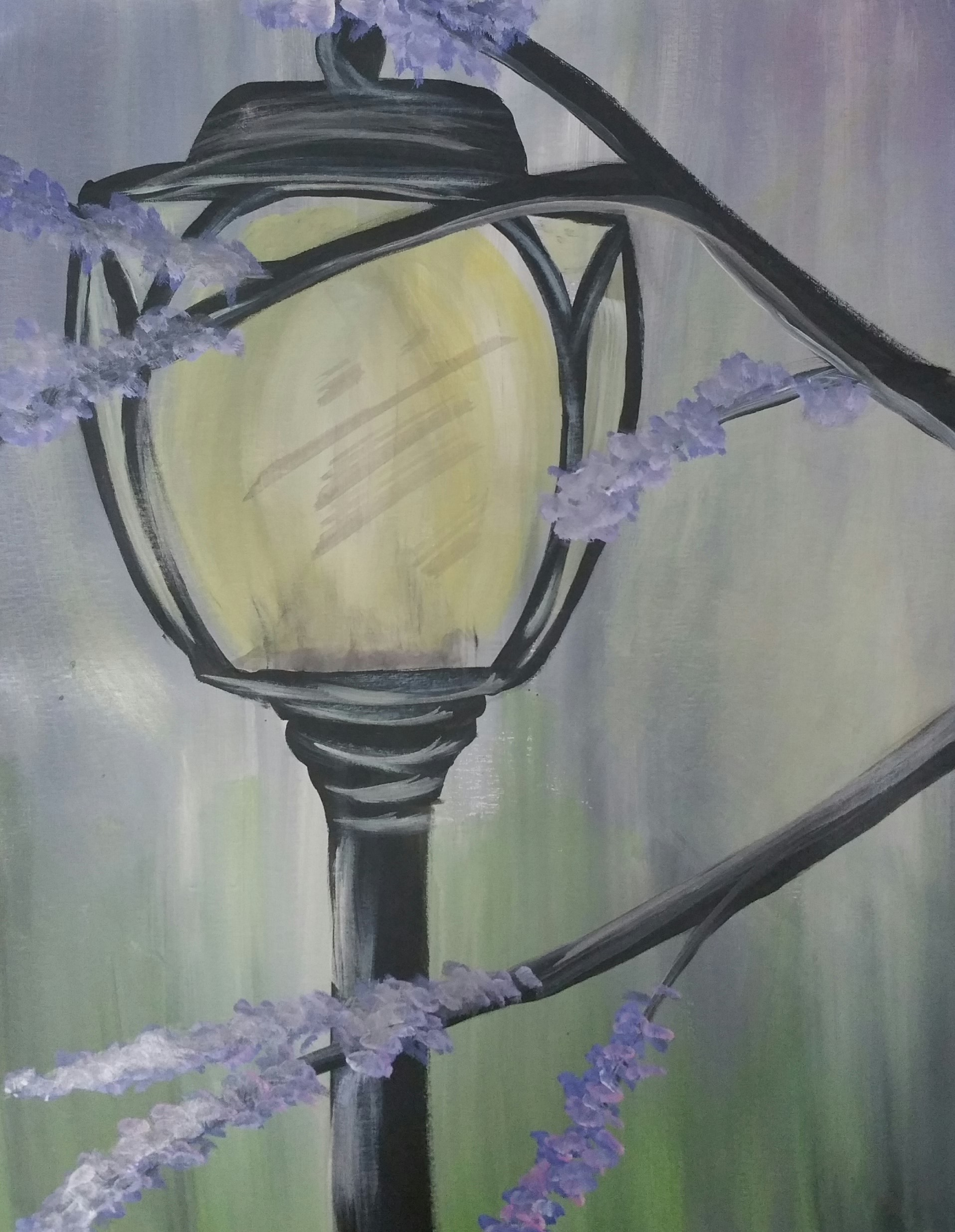 Lamp post painting
