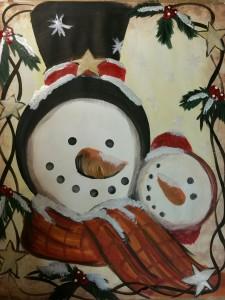 Open Paint - Vintage Snowman 11/17