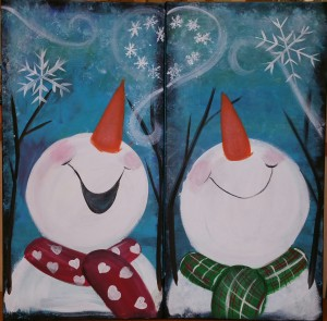 Open Paint - Couples - Snowman couple  11/11