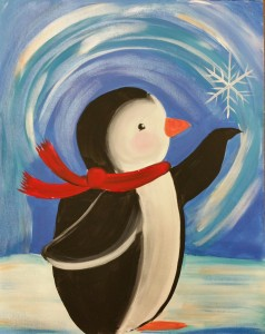 Open Paint Party - Penguin 12/3