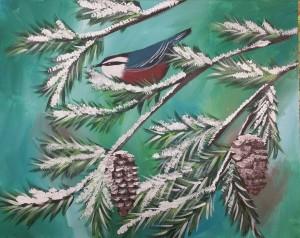 Open Paint - winter bird 12/2